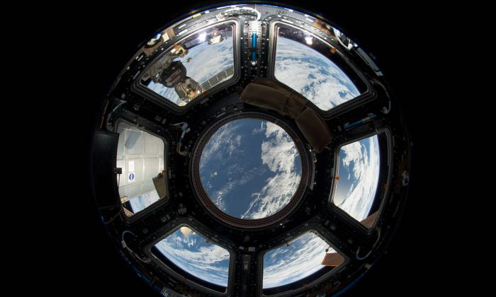 A view of Earth as seen from the Cupola on the Earth-facing side of the International Space Station on June 12, 2013. (NASA)