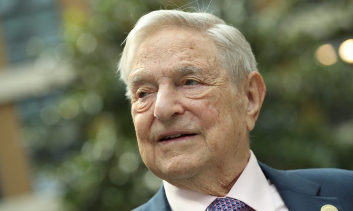 Financier and philanthropist George Soros attends the official opening of the European Roma Institute for Arts and Culture (ERIAC) at the German Foreign Ministry on June 8, 2017 in Berlin, Germany. (Sean Gallup/Getty Images)