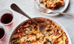 Stovetop Lasagna With Spinach