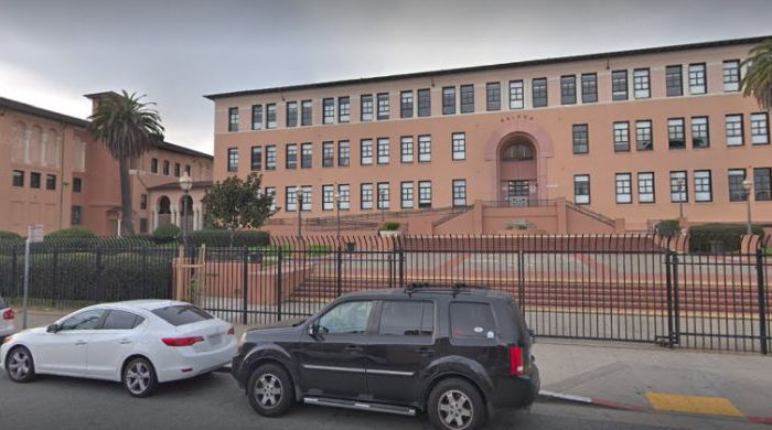 A significant number of police officers descended upon San Francisco's Balboa High School after reports that someone brought a firearm on campus. (Google Maps Street View)
