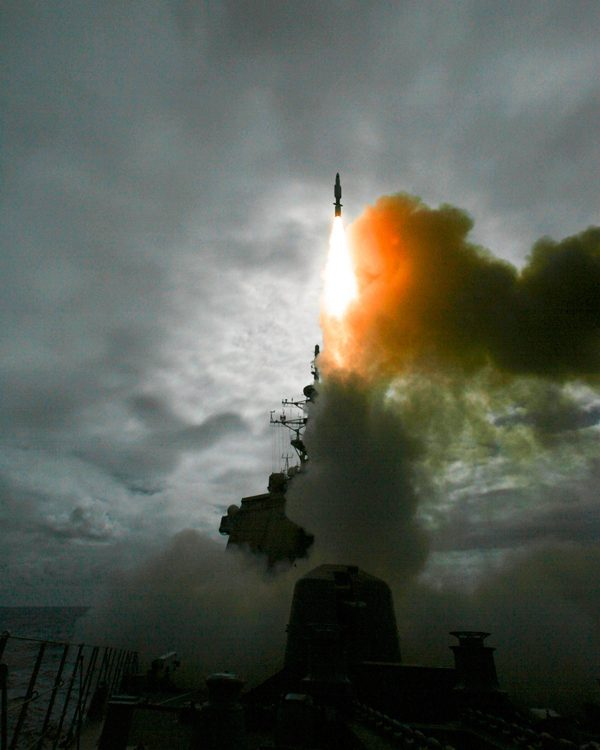An SM-3 missile is launched