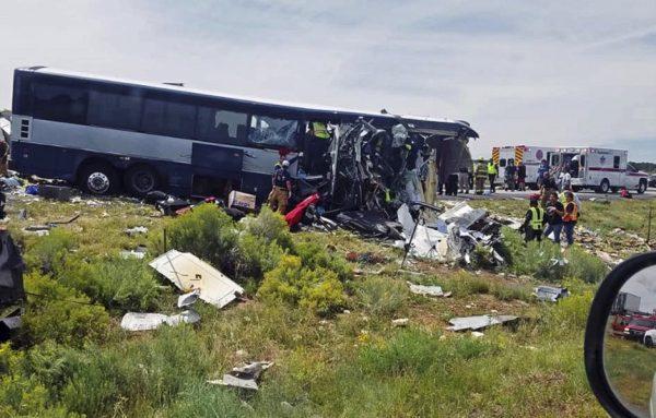 Site of New Mexico bus crash