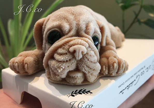 Detailed contours and a hair-like frost make the puppy-shaped treats almost disturbingly lifelike. (J.C. Co Art Kitchen)