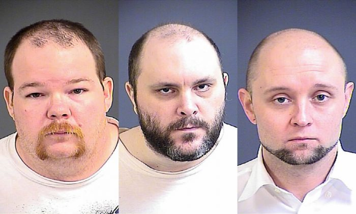 (L-R) Brandon Gressette, 33, Steven Fox, 40, and James Thomas Gersky, 35, were sentenced to 40, 30, and 30 years in prison, respectively, for a conspiracy to sexually exploit minors. (Charleston County Detention)