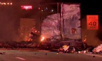 Truck Carrying Axe Body Spray Cans Explodes, Interstate Closed