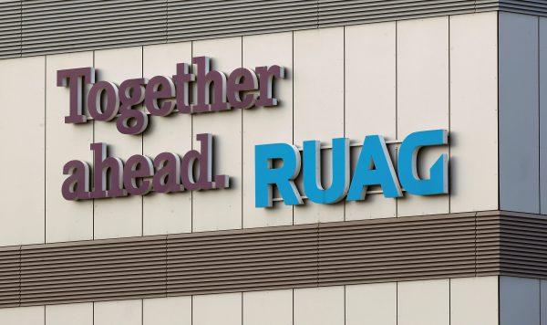 A logo of Swiss defense equipment maker RUAG