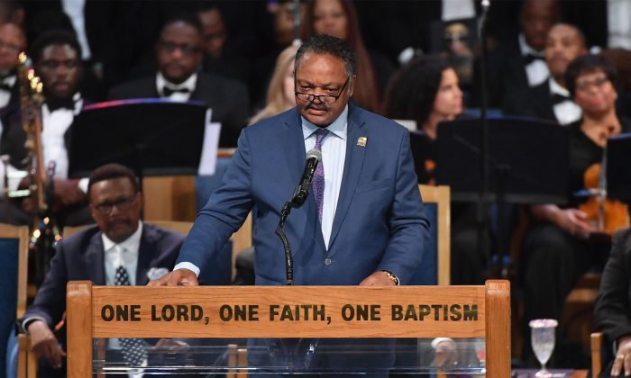 Jesse Jackson in a file photo on Aug. 31, 2018. (Angela Weiss/AFP/Getty Images)