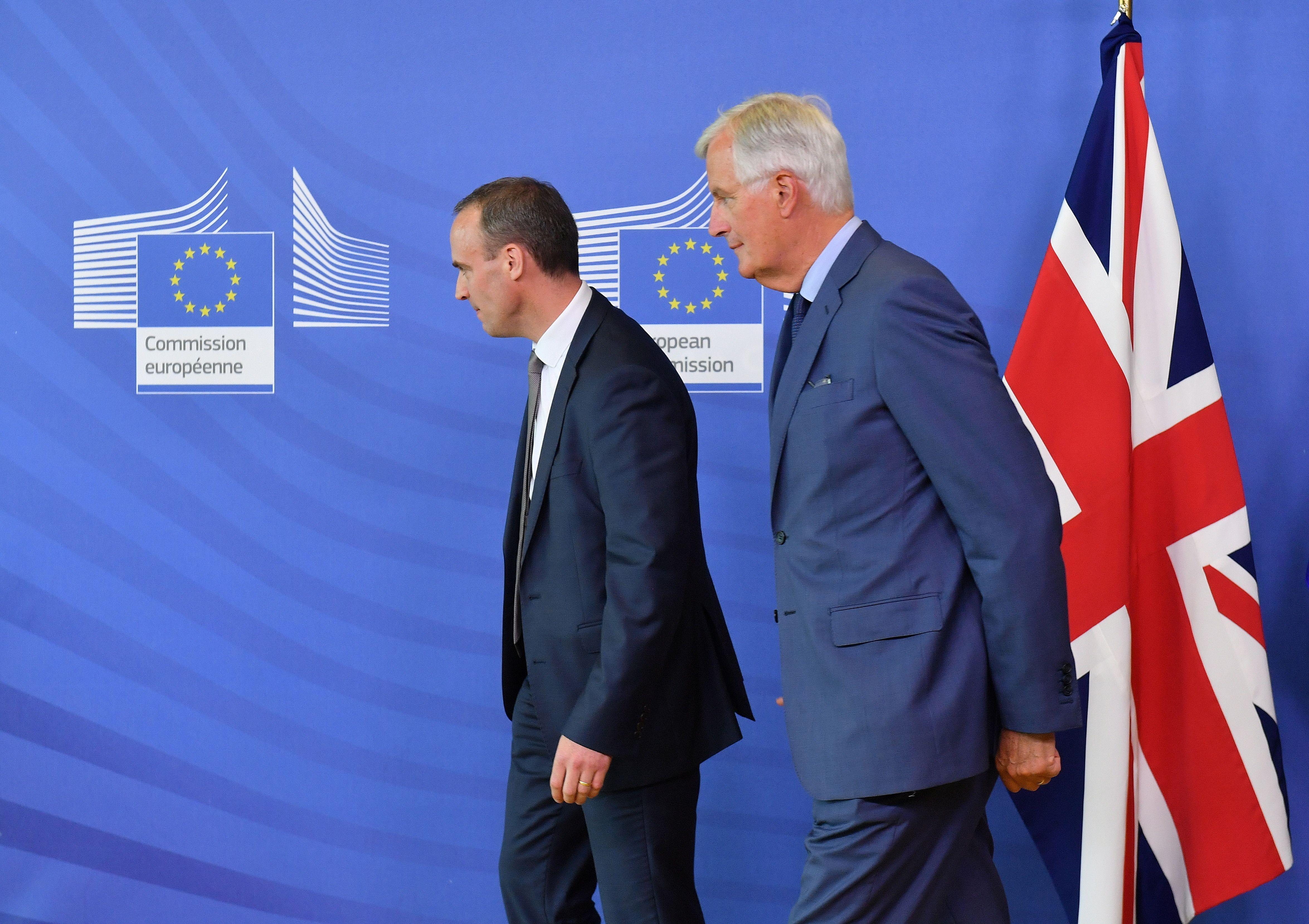 Michel Barnier meets Dominic Raab