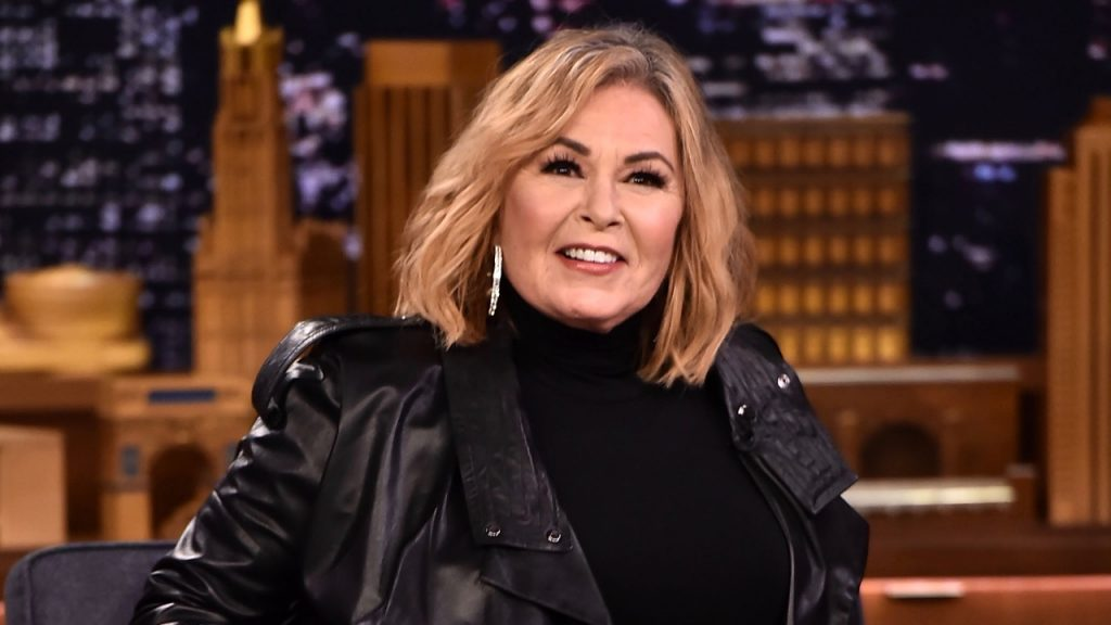 "Roseanne Barr Visits ""The Tonight Show Starring Jimmy Fallon"" in New York City on April 30, 2018. (Theo Wargo/Getty Images for NBC)"