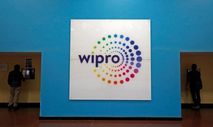 The logo of Wipro is seen inside the company's headquarters in Bengaluru, India, January 19, 2018. REUTERS/Abhishek N. Chinnappa