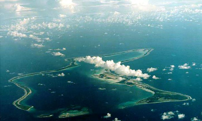 FILE PHOTO: Diego Garcia, the largest island in the Chagos archipelago and site of a major United States military base in the middle of the Indian Ocean leased from Britain in 1966./File Photo