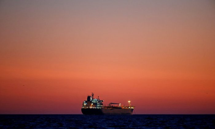 File photo An oil tanker is seen at sunset anchored off the Fos-Lavera oil hub near Marseille, France, October 5, 2017. (Reuters/Jean-Paul Pelissier/File Photo)
