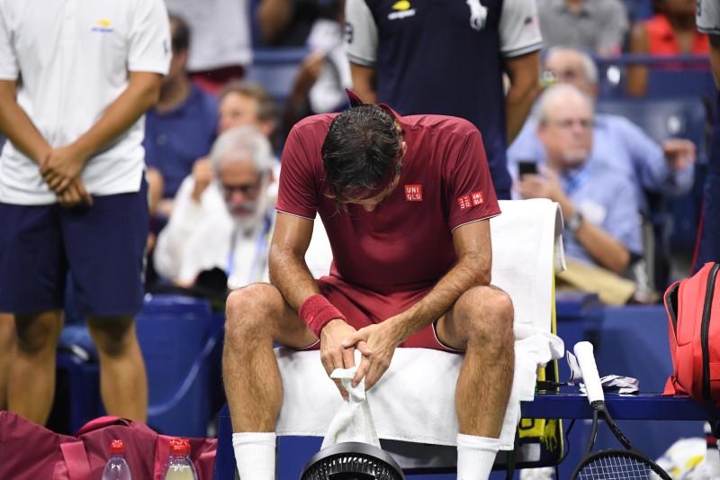 Roger Federer of Switzerland at US Open