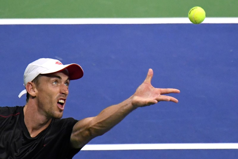 John Millman at Tennis US Open
