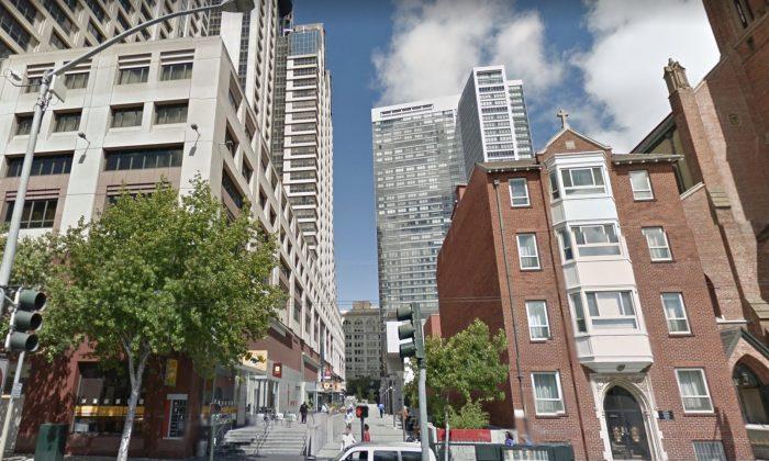 Yerba Buena Lane, San Francisco, CA. (Map data @2018 Google).