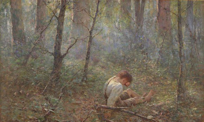 """Lost,"" 1907, by Frederick McCubbin. National Gallery of Victoria. (Public Domain)"