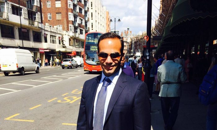 Former volunteer campaign foreign policy advisor George Papadopoulos in this undated image. (George Papadopoulos/Twitter)