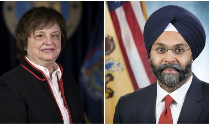 New York Attorney General Barbara Underwood (L) and New Jersey Attorney General Gurbir Grewal. ( ag.ny.gov(L) nj.gov)