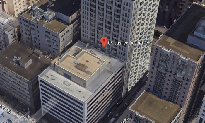 US Justice Department. 550 Kearny St # 800, San Francisco, CA 94108. (Map data @2018 Google)