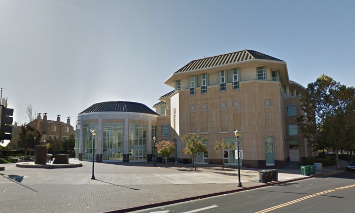 Hayward City Hall. 777 B St, Hayward, CA 94541. (Map data @2018 Google)