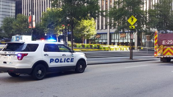 Police respond to the shooting