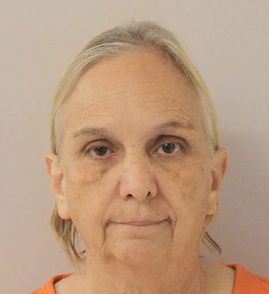 Former USA Gymnastics trainer Debbie Van Horn appears in a booking photo provided by Walker County Jail in Huntsville, Texas on Sept. 6, 2018. (Walker County Jail/Handout via Reuters)