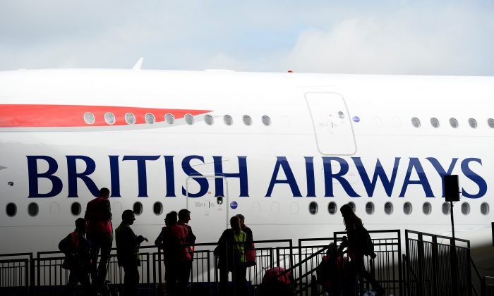 British Airways' new Airbus A380 arrives at a hanger after landing at Heathrow airport in London July 4, 2013. (REUTERS/Paul Hackett/File Photo)