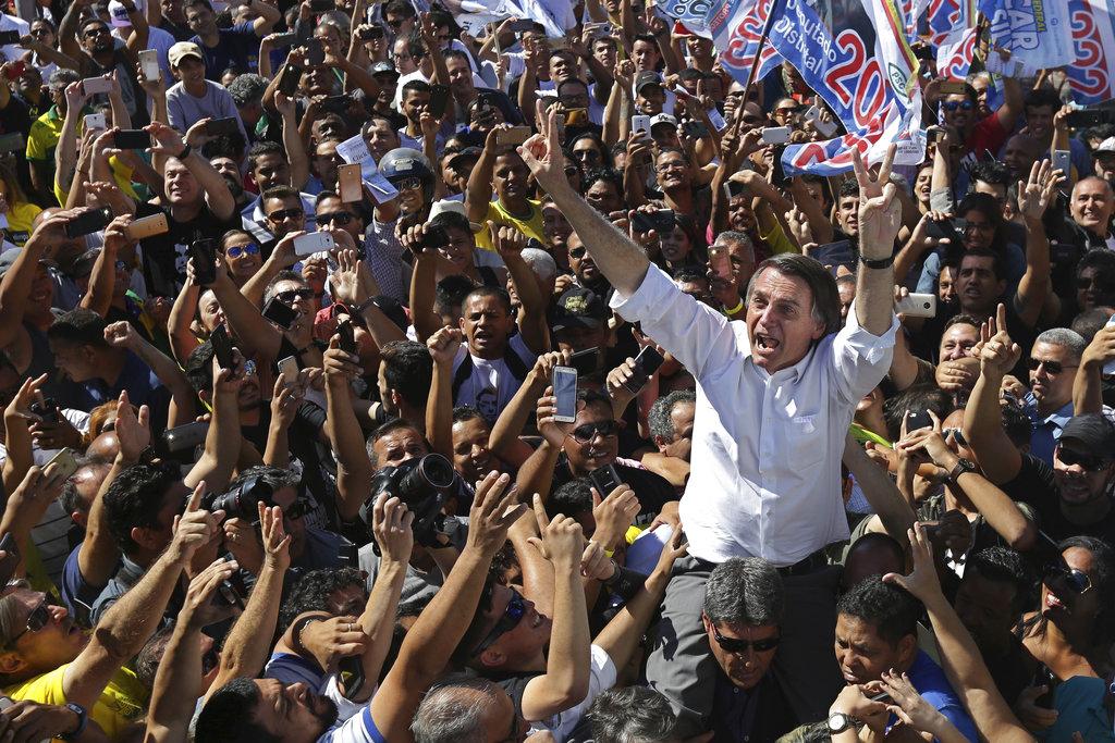 Brazil presidential candidate Jair Bolsonaro
