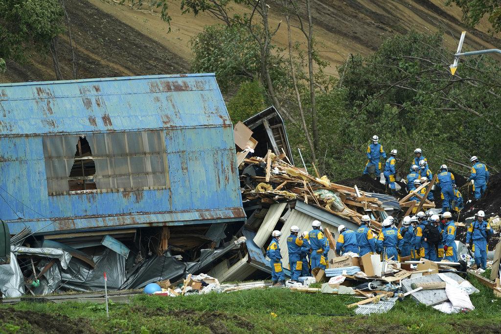 Japan Earthquake Scenery in Hokkaido