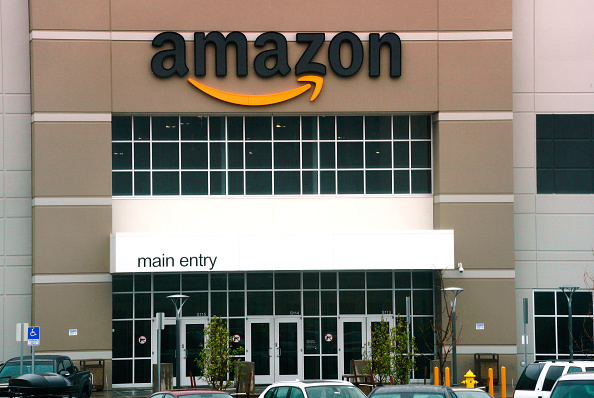 An Amazon fullfillment center in Aurora, Colo., on May 3, 2018.    (Rick T. Wilking/Getty Images)
