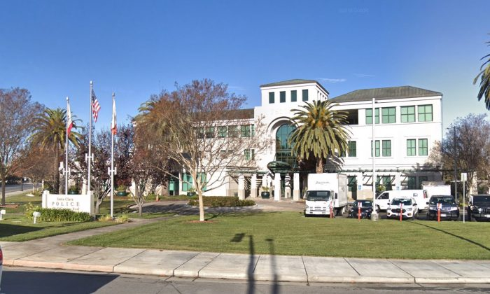 Santa Clara Police Department. 601 El Camino, Santa Clara, CA 95050. (Map data @2018 Google)