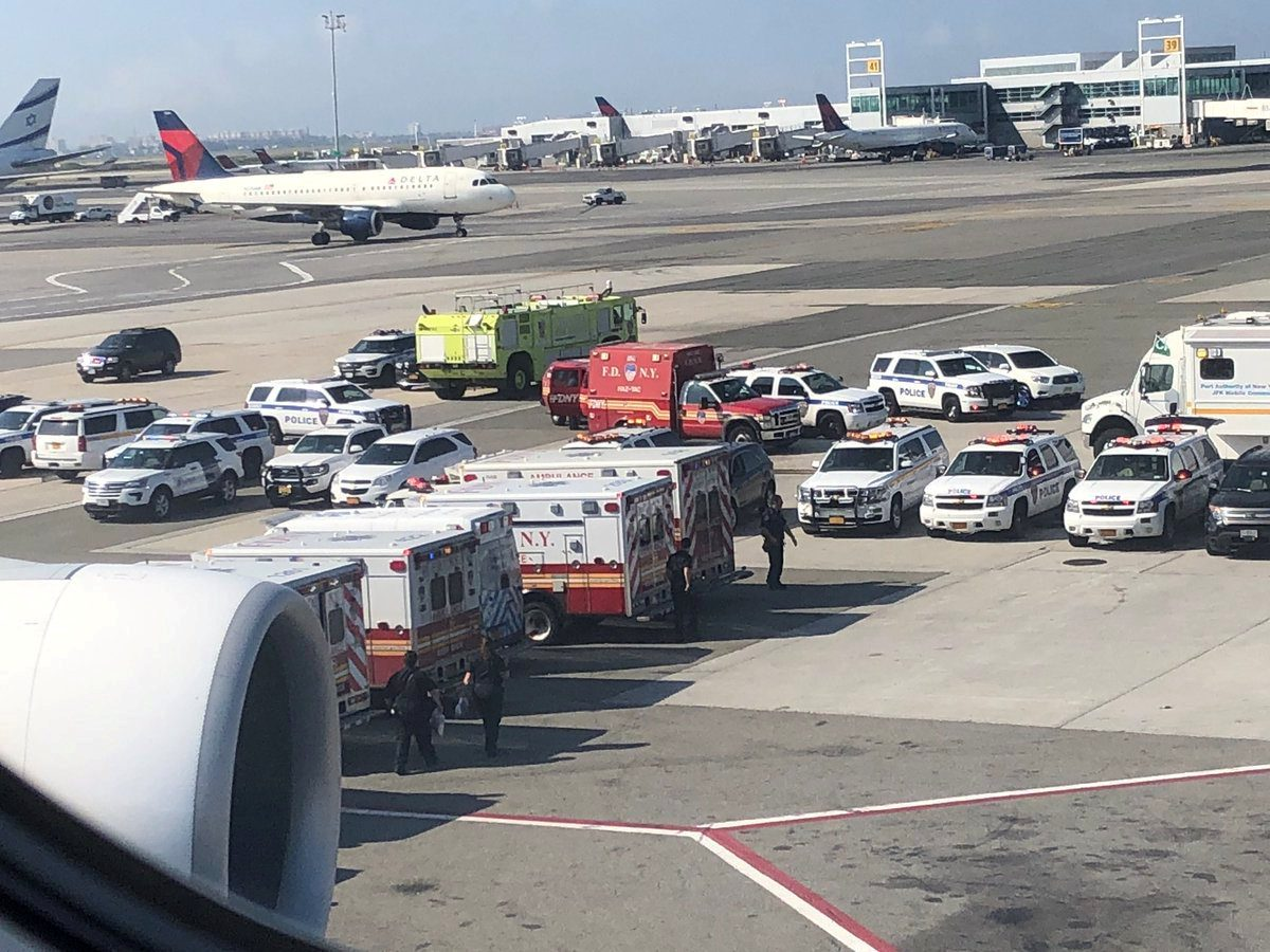 Passengers fell sick on a flight from New York City to Dubai.