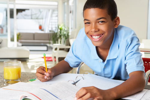 Children should have a quiet space where they can focus on homework.