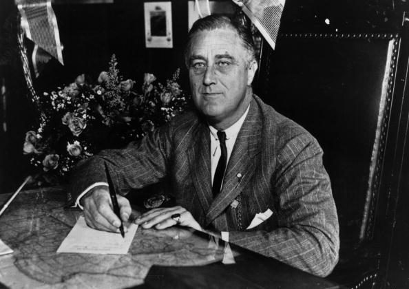 Franklin Delano Roosevelt (1882-1945) the 32nd President of the United States from 1933-45. (Keystone Features/Getty Images)