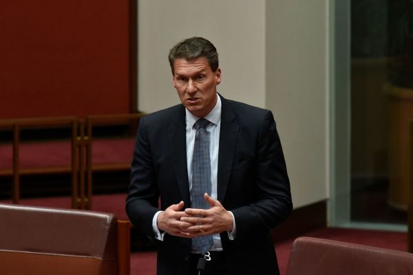 Australian Conservatives Senator, Cory Bernardi addresses federal Parliament in 2017.