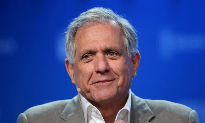 Leslie Moonves, Chairman and CEO, CBS Corporation, speaks during the Milken Institute Global Conference in Beverly Hills, California, on May 3, 2017. (Reuters/Lucy Nicholson)