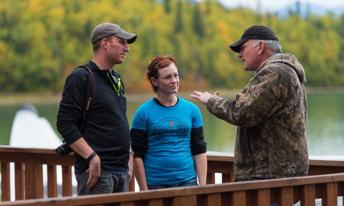 John and Neysa in Alaska with Franklin Graham, president of Samaritan's Purse. (Courtesy of Samaritan's Purse)