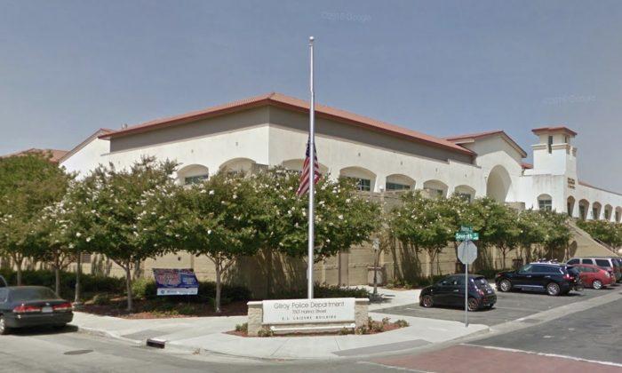 Gilroy Police Department. 7301 Hanna St, Gilroy, CA 95020. (Map data @2018 Google)
