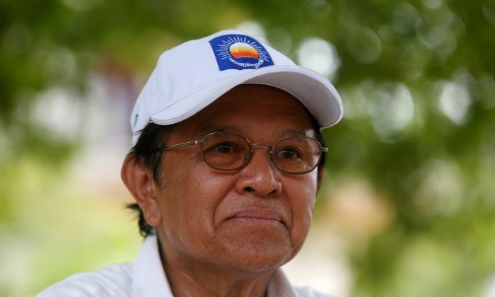 Cambodia's opposition leader and President of the National Rescue Party (CNRP) Kem Sokha talks during an interview with Reuters in Prey Veng province, Cambodia May 28, 2017. (Samrang Pring/File Picture/Reuters)