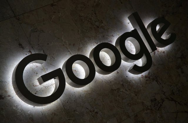A Google logo is displayed at the entrance to the internet based company's offices in Toronto, Ontario, Canada Sept. 9, 2018. (Reuters/Chris Helgren)