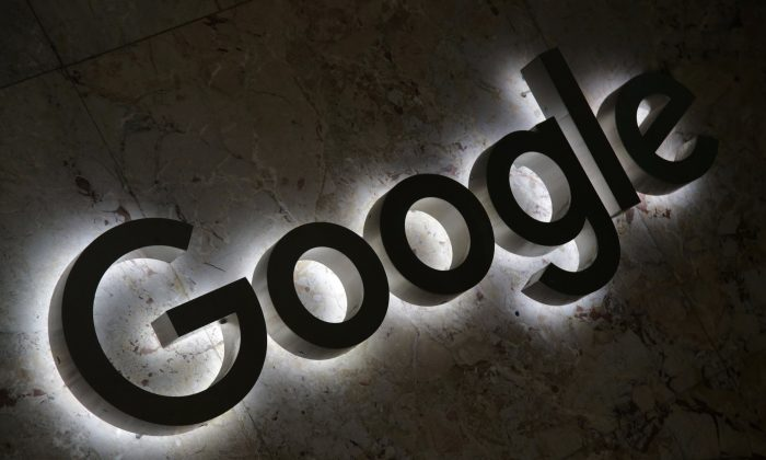 A Google logo is displayed at the entrance to the internet based company's offices in Toronto, Ontario, Canada, on Sept. 9, 2018. (Reuters/Chris Helgren)