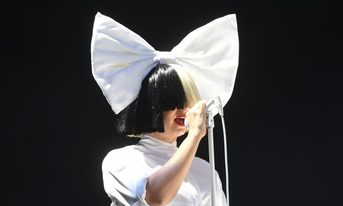 Sia performs at V Festival at Hylands Park in Chelmsford, England, on Aug. 20, 2016. (Stuart C. Wilson/Getty Images)