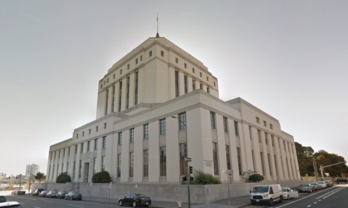Alameda County Superior Courthouse. 1225 Fallon St, Oakland, CA 94612. (Map data @2018 Google)