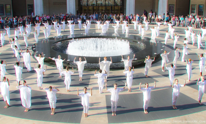 Table of Silence Public Performance held at Lincoln Center, New York City on Sept. 11, 2018. (Terri Gold/Table of Silence)