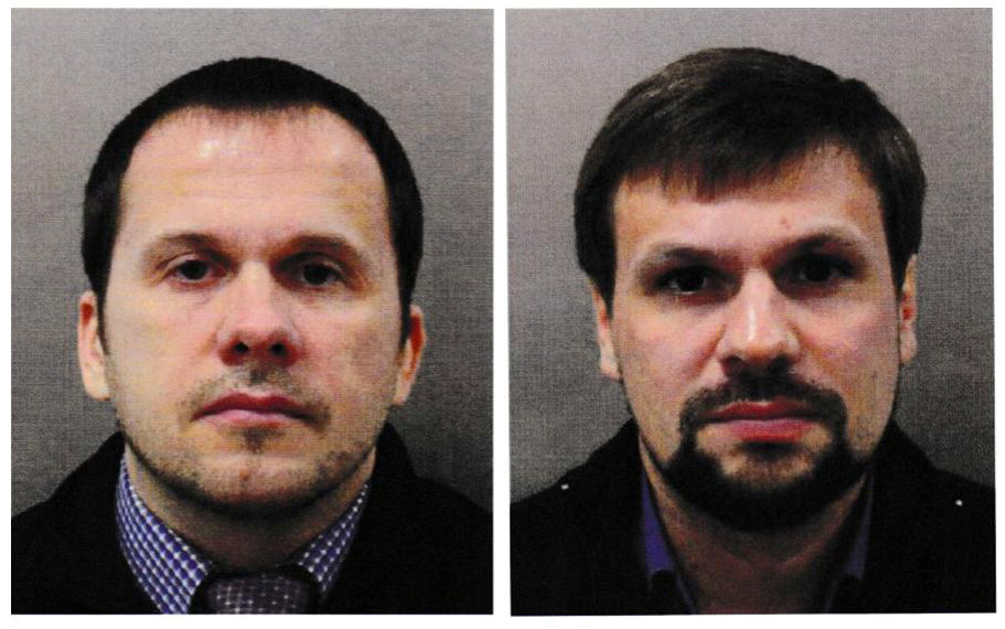 Alexander Petrov and Ruslan Boshirov in an image handed out by police