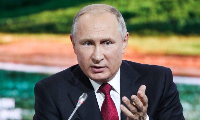 Russian President Vladimir Putin speaks during a session of the Eastern Economic Forum in Vladivostok, Russia on Sept. 12, 2018. (Sergei Bobylyov/TASS Host Photo Agency/Pool via Reuters)