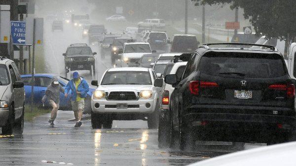 Rain in Paia, Hawaii