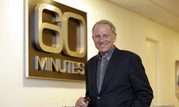 """""""60 Minutes"""" Executive Producer Jeff Fager poses for a photo at the """"60 Minutes"""" offices, in New York.In this Sept. 12, 2017. Fager, who was named in reports about tolerating an abusive workplace at CBS, stepped down on Sept. 12, 2018.  (Richard Drew/AP)"""