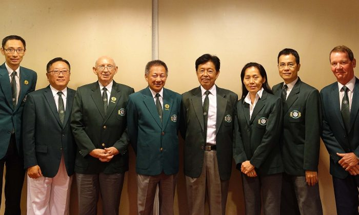 The newly appointed officers of the Hong Kong Lawn Bowls Association for the year of 2018 to 2019. (Stephanie Worth)