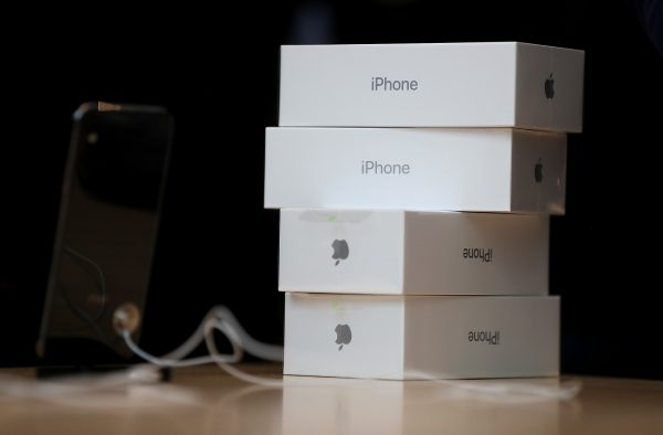Boxes of the new iPhone X